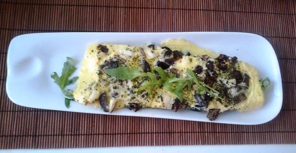 omlet sa suvim pecurkama