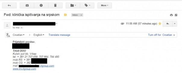 mail privatno