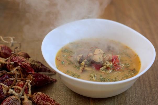 Thai supa domace kokosovo mleko